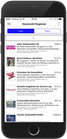 Beispiel der App